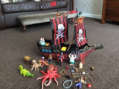 Pirate Ship and Pirate Toy Figures