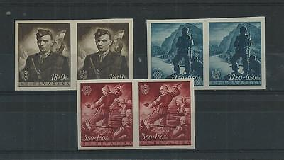Croatia 1944 Croat Youth Fund Imperf Pairs Mnh