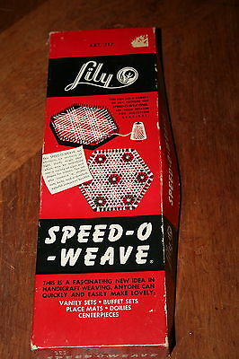 Vintage Speed-O- Weave By Lily Tool for Weaving Placemats Doilies Metal Parts
