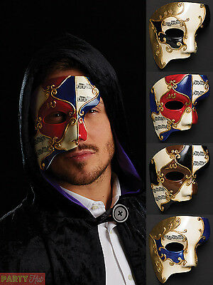 Mens Masquerade Ball Half Face Eye Mask Venetian Ball Fancy Dress Accessory