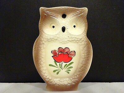 Vintage Nevco Japan Wise Owl Spoon Rest/plaque 2970-F