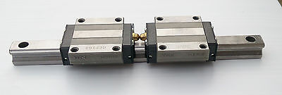 THK HSR15 2 blocks on 200mm rail LM linear ball bearing guide rail
