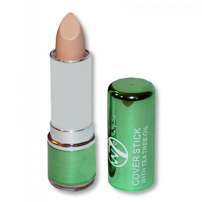 W7 Cover Stick with Tea Tree Oil Concealer Makeup New Light/Medium