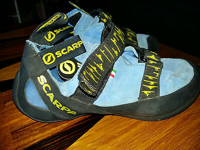 Scarpa Veloce Climbing Shoes/rock Boots, Ladies/child Uk Size 5, Good Cond