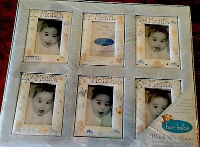 Bon Bebe Boys Watch Me Grow 2 To 6 Month Photo Frames Gift Nip Gift