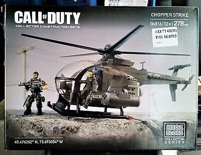 Mega Bloks Call Of Duty Light Chopper Strike 278 Pcs - Collector Series