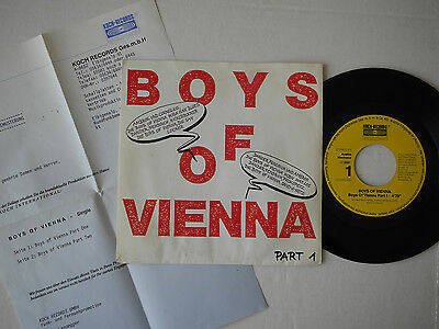 "7"" - Boys of Vienna Part I + Part II -- Koch Records - Austropop"