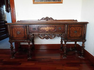 Berkey and Gay antique walnut dinning room set