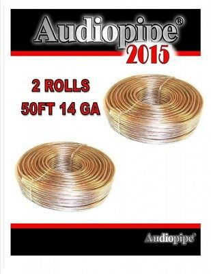 14 Gauge Speaker Wire 30m Total 2 Rolls 15m Copper Clad Car Home audio Cable Aud