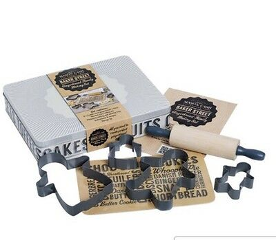 Metal Gingerbread Family Cutter Set In A Tin Mason Cash Baker Street