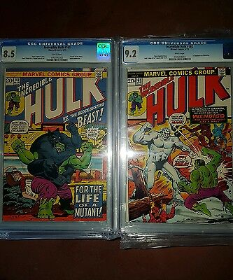 Incredible Hulk 161 162 cgc 9.2 lot 1st Wendigo