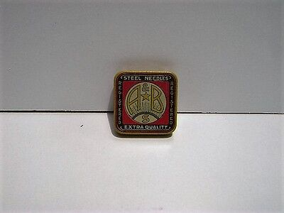 Vintage A & B German Gramaphone Needle Tin Full of Needles
