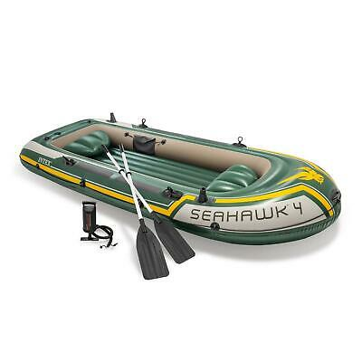 Intex 68351 Schlauchboot Seahawk 4 Ruderboot Set Angelboot +Pumpe Paddel