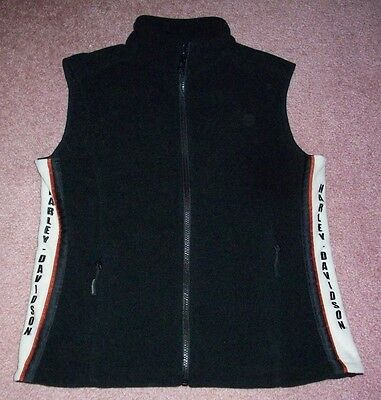 Harley Davidson Motorcycles Motor Clothes Fleece Vest Womens Small