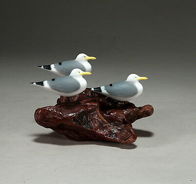 SEAGULL Trio Sculpture New direct from JOHN PERRY 6in long Statue Hand Painted