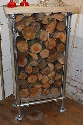 Reclaimed Scaffold Board Log Stacking Unit