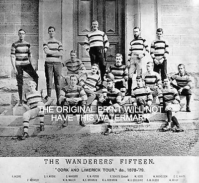 Wanderers Rugby Football Club Cork Limerick Tour 1878/79 Vintage Print Mounted