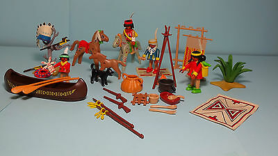 Playmobil Western ~ Indian Camp / Indianer Dorf, Indianer-Sippe (3733)