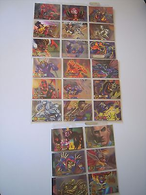 Marvel Flair 95 Annual Set Complet De 24 Power Blast  Bonus Cards    Cards  Tbe