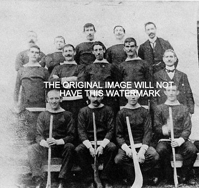Tullamore Co Offaly Hurling Team 1903 Ireland Ancestry Vintage Print Mounted