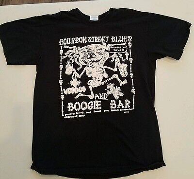 Bourbon Street Blues Voodoo and Boogie bar T shirt Large