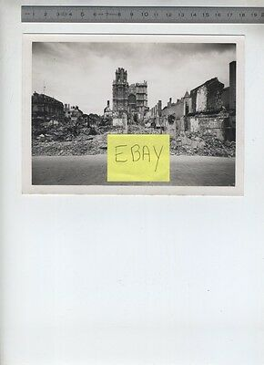 (B/5a) Photo Evreux WW2 Seconde guerre mondiale Ruines