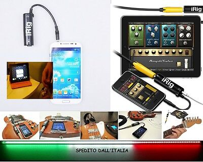 IK MULTIMEDIA iRig Interfaccia per ANDROID SAMSUNG LG NEXUS iPhone iPod iPad.