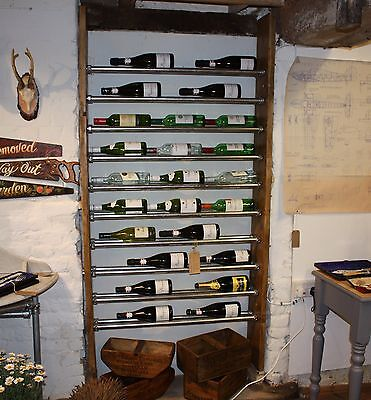 Reclaimed Scaffold Board Wine Rack