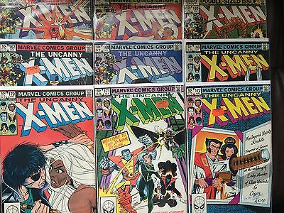 Uncanny X Men 164, 165, 166, 167, 168, 169, 170, 171, 172 All At Least Vfn