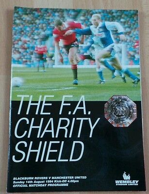 1994 F.a. Charity Shield..blackburn Rovers V Manchester United. Progamme