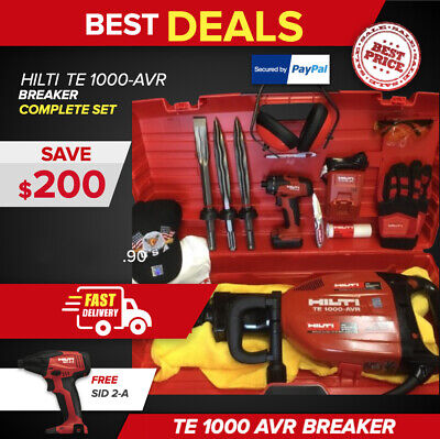 Hilti Te 1000 Avr, Preowned, Free Sfd 2-A, Chisels, Extras, Fast Ship