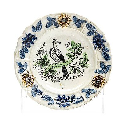 Rare Antique Pearlware For A Favourite Bird Dish Early 19 C