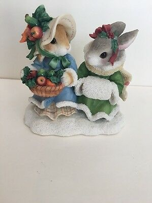 Pre-owned Blushing Bunnies Hope Brings A Bountiful Harvest 178632