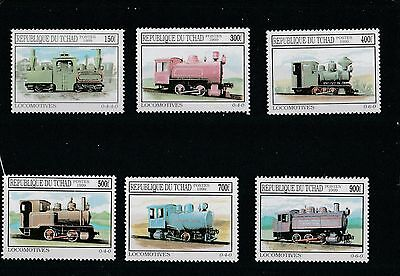 Trains - Ciad-  Complet Set - New - Perfect - 1999
