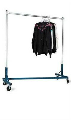 """Clothing Clothes Rack Z-Truck Rolling Double Rail Casters 500 Lbs 66"""" H x 63"""" W"""