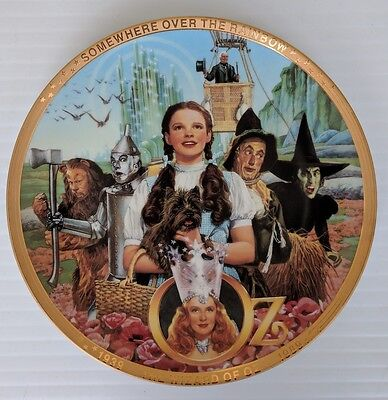 WIZARD OF OZ 50TH ANNIVERSARY HAMILTON COLLECTION PLATE (COA not included)