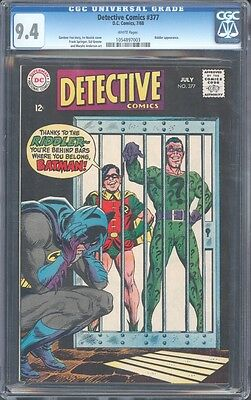 Detective Comics #377 Cgc 9.4 Nm Riddler App Murphy Anderson Cover Wp