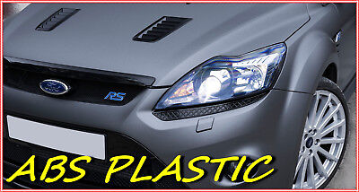FORD FOCUS MK 2 RS Style BONNET VENTS ABS - PLASTIC NEW! Tuning to FORD