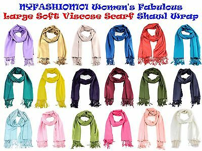 Brand New! NYFASHION101® Women's Fabulous Large Soft Viscose Scarf Shawl Wrap