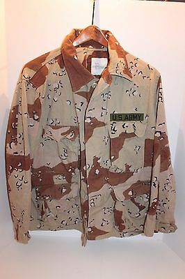 US Army 6 Color Desert Storm Chocolate Chip Camo Top Jacket Shirt Large Short