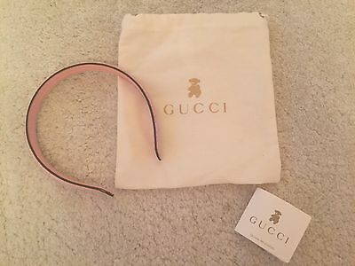 Ln Girls Gucci Pink Gg Logo Hairband Headband Aliceband Worn Once