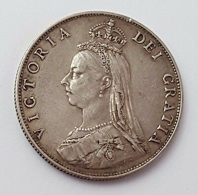 1887 - One Florin / Two Shillings - Silver Coin - Queen Victoria - Great Britain