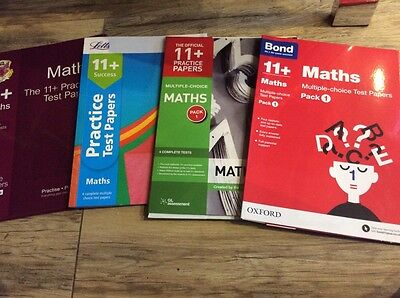 11 plus practice Multiple Choice Maths papers 4 X4