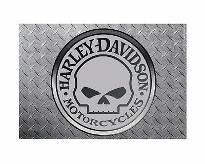 "NEW - Harley-Davidson Flag, Willie G. Chrome Estate Size 28"" X 40"",  HD-EST-1488"