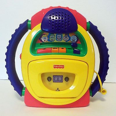 Fisher Price TUFF STUFF Cassette Tape Player Recorder Microphone Voice Warp Kids