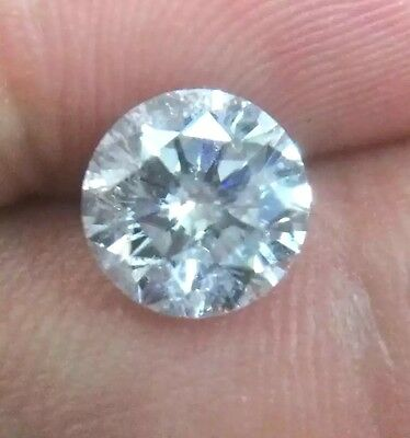 1.38 Carat White D Color Eye Clean SI Loose Natural Round Brilliant Diamond
