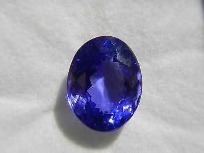 Tanzanite Fine Natural Dark Loose Gemstone 5.29ct Oval Comes with Paid Apprisial