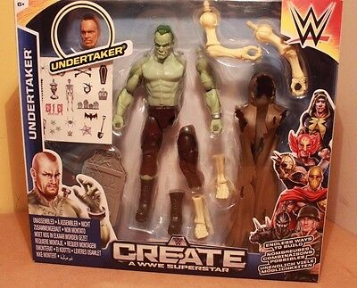 Create A WWE Superstar Undertaker Zombie Set Brand NEW & Sealed