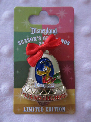 Disney Pin - 2012 Christmas Bell Ornament - Pluto - LE1500 New