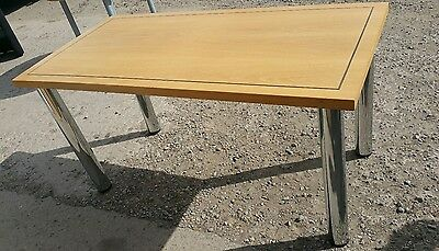 Office desk table oak veneer solid  computer  Furniture 3 tables available